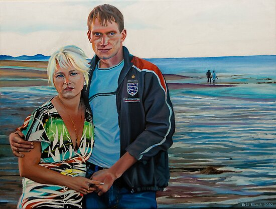 """""""Bride and Groom"""" 61x46cm oil on canvas by Arts Albach"""