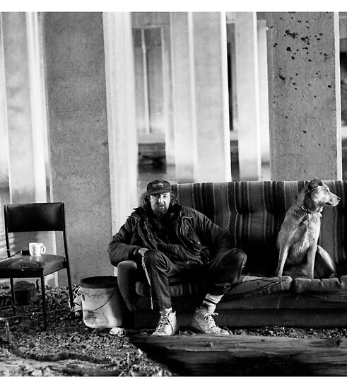 Street Photography: Bill and his dog Ted by docophoto