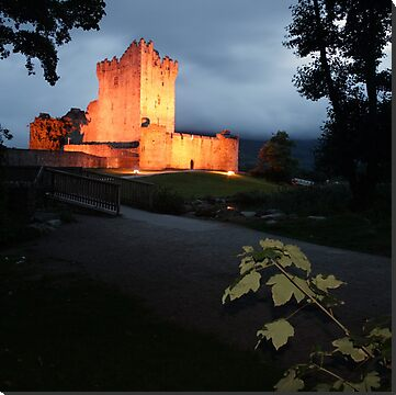 Ross Castle located near Killarney in county Kerry