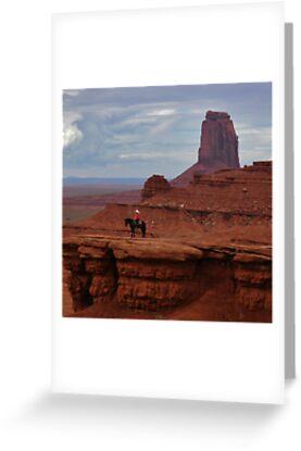 Greeting Card of The Watchman by Brendan Schoon