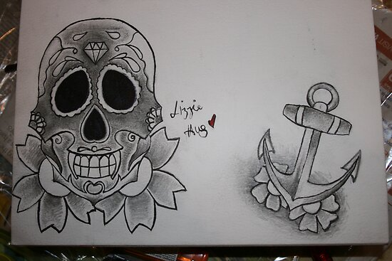 candy skull tattoo pictures. CANDY SKULL TATTOO sugar skull