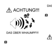 """Updated dzyn! 0909 """"Achtung!!! Das Über Whaumpf!!!"""" Sticker by VII23"""