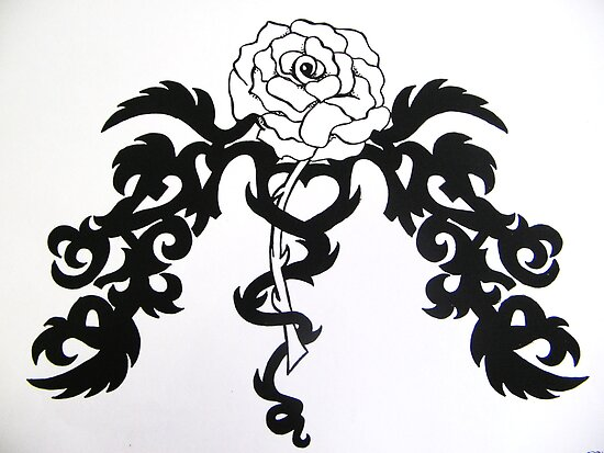 Tribal Rose Tattoo ~ 69096 views (I know ..crazy huh!) by