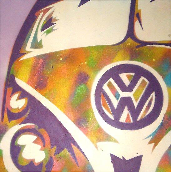 volkswagen combi van. Purple VW Combi Van by Laura