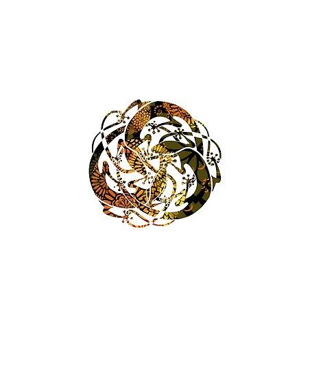 Tattoo Mandala Lizards - Sun Rays on Grass Tattoo