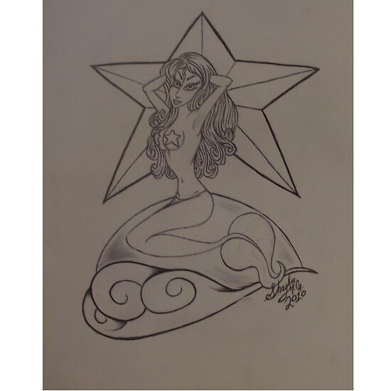 Pin Up Mermaid. pinup mermaid by shayla2010