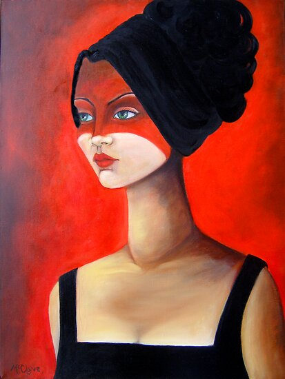 Oil Paintings: Red Diva by Laurie McClave