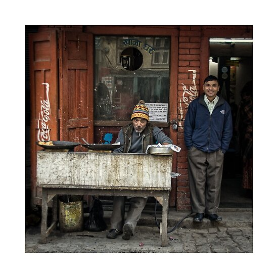 Street Photography: The Food Vendor by Mike de Lange
