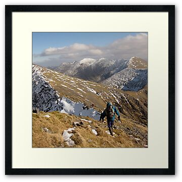 Macgillycuddy Reeks mountain range, County Kerry