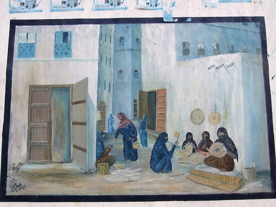 mural of women at work