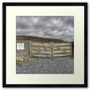 Burren National Park at Mount Carron in north Clare