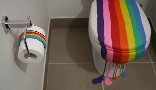 Quot Colour Installation Rainbow Toilet Quot By Bites Redbubble