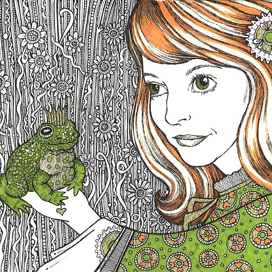 work.5720013.1.flat,550x550,075,f.princess margot and the frog Princess Margot & the Frog. Woodland Wisdom. Princess Florence