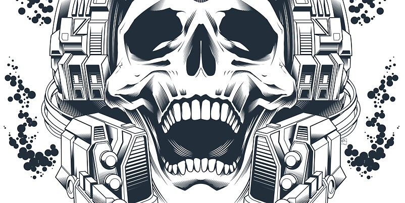 Skull T-Shirt: Continuum by Scott Robinson