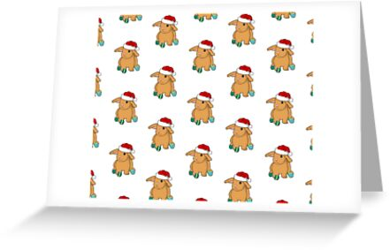 Greeting Card: Christmas bun