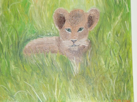 prince harry baby pictures. Baby Lion Cub (Resembles Prince Harry) by Monika Marciniak