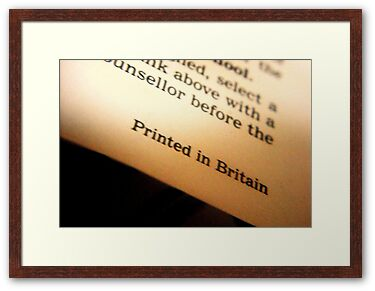 Framed Print: Printed in Britain