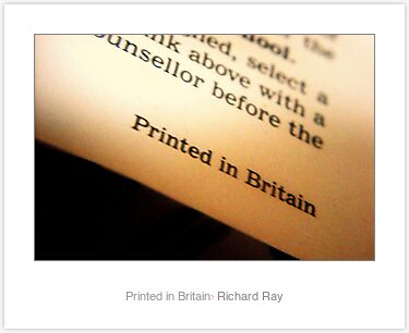 Laminated Print: Printed in Britain