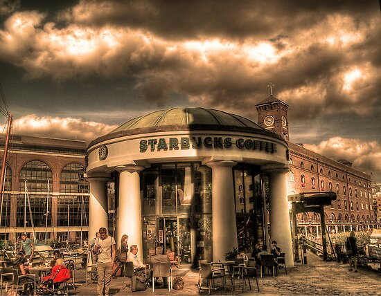 Starbucks by the Dock (HDR) by Richard Ray