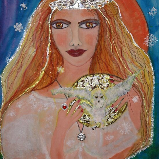 "Winter Arianrhod Welsh Goddess"" Fine Art Print by eoconnor 