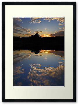 Fake Lake, real sunset