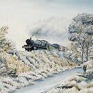 Winter Art: Manor in Winter by Rasendyll