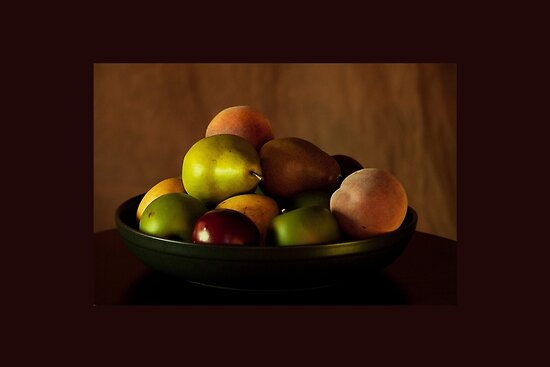 "Precious Fruit Bowl"" Fine Art Print by Sherry Hallemeier 
