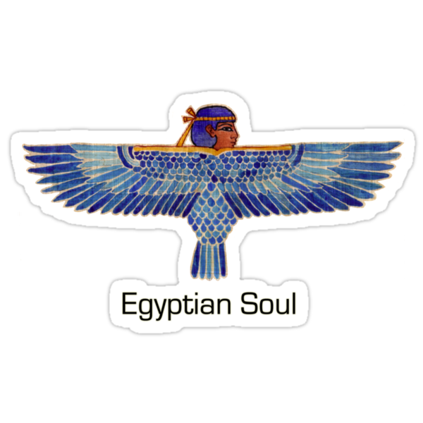 "Buy ""Egyptian Soul: Ba"" Sticker by Aakheperure 