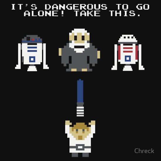 TShirtGifter presents: It's Dangerous to Go Alone T-Shirt