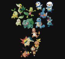 All Starter Pokemon T-Shirt