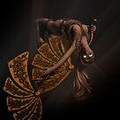 Flip - Steampunk Digital Nude Art by Jennie Rosenbaum