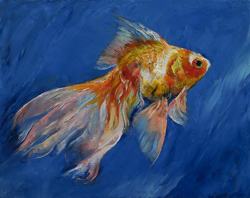 Quot Goldfish Quot By Michael Creese Redbubble