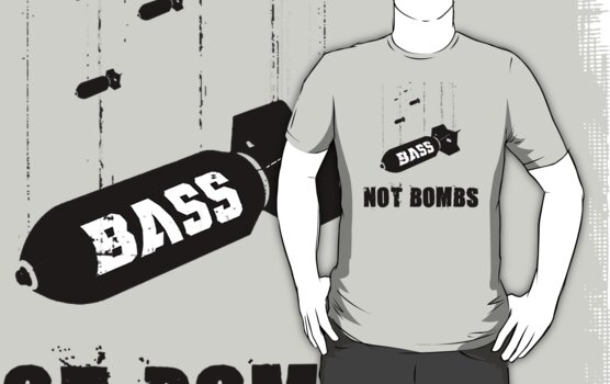 """""""Drop bass not bombs"""" T-Shirts & Hoodies by lab80 