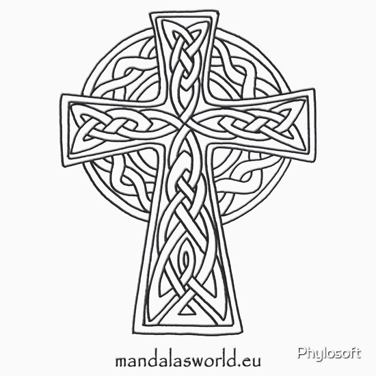 "Coloring Page Celtic F C: ""Celtic Cross N5 Dark"" Kids Clothes By Mandala's World"
