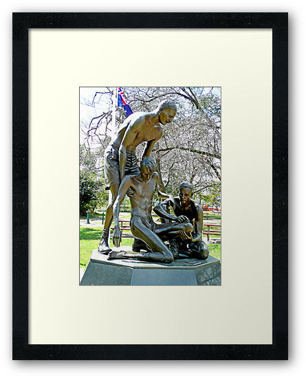 "Ernest Edward ""Weary"" Dunlop Memorial, Benalla, Vic. Australia Framed Art Print"