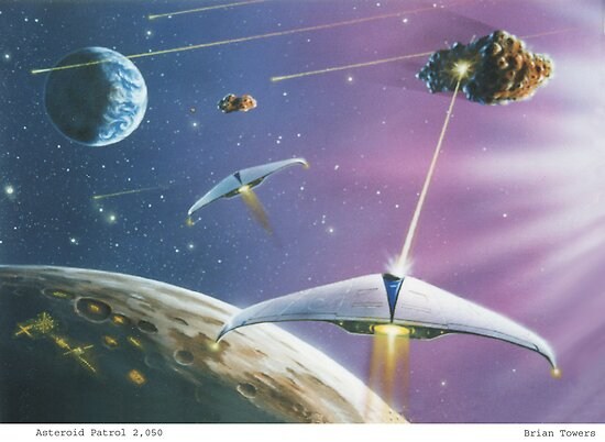 """""""Asteroid Patrol 2050"""" by Brian Towers   Redbubble"""