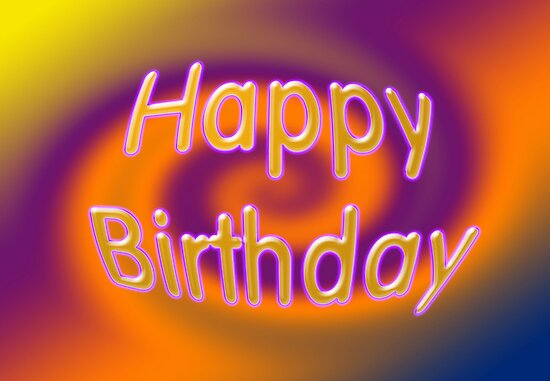 """Groovy Happy Birthday Card"" By Donna Grayson"