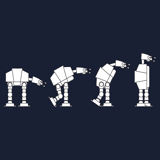 TShirtGifter presents: Evolution of the AT-AT T-Shirt