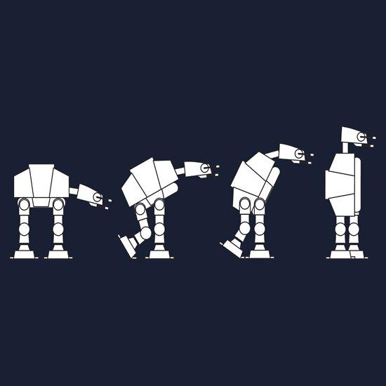 TShirtGifter presents: Evolution of the AT-AT T-Shirt