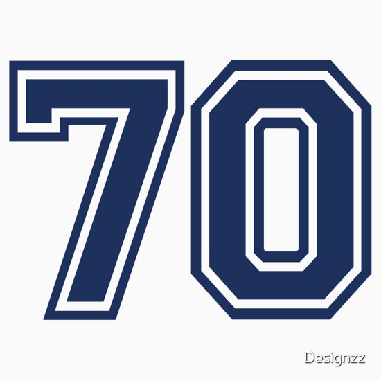 number 70 seventy cards designzz 73 redbubble templates card