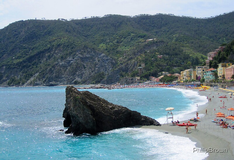 Quot Rapallo Beach Italy Quot By Philip Brown Redbubble