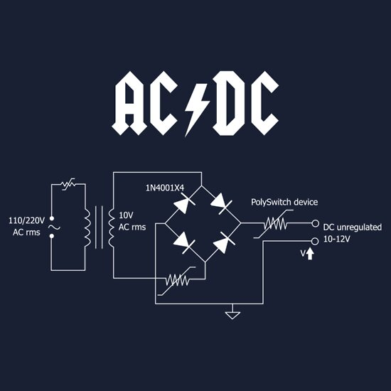 TShirtGifter presents: AC/DC circuit T-Shirt