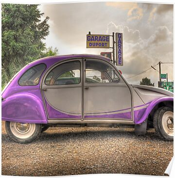 2cv posters by hans kool redbubble. Black Bedroom Furniture Sets. Home Design Ideas